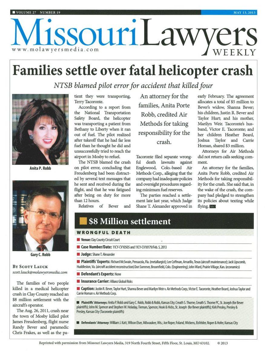 Air Ambulance Crashes - Medical Helicopter Crash Lawyer