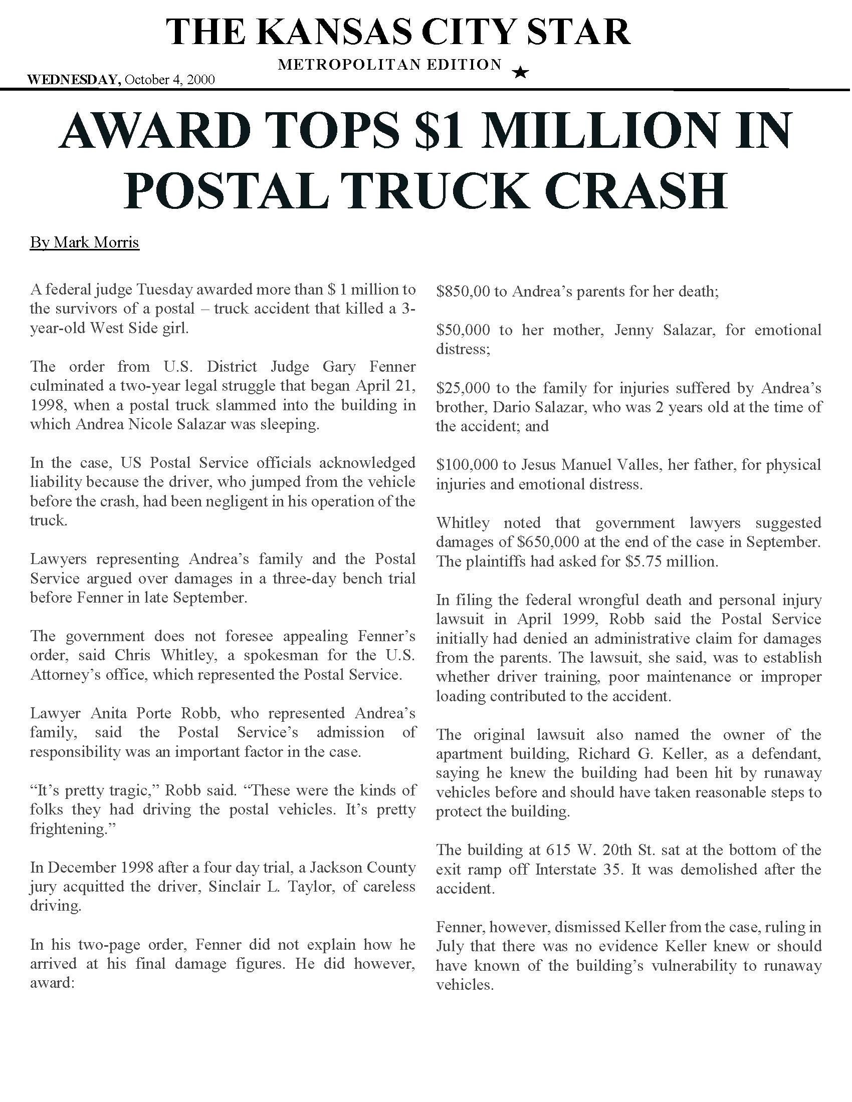 Transportation Accident Attorney - Personal Injury Attorneys - Robb